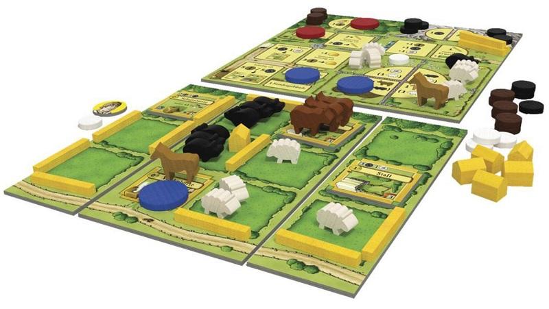 Agricola 2 spelers speelbord