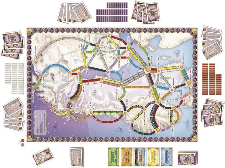 Ticket to Ride Nordic Countries speelbord