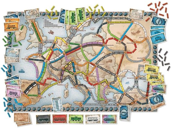 Ticket to Ride Europe speelbord