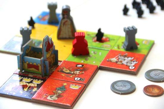 Queendomino rode gebouwen