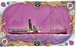 Scheepskaart met havensymbool