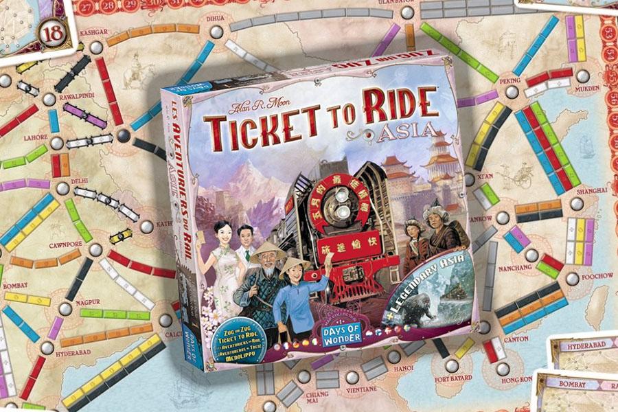 Lees meer over het artikel Ticket to Ride Asia review: teamspel met gelimiteerde communicatie