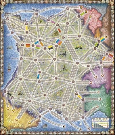 Speelbord Ticket to Ride France