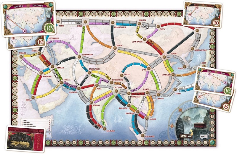 Ticket to Ride Legendary Asia kaart