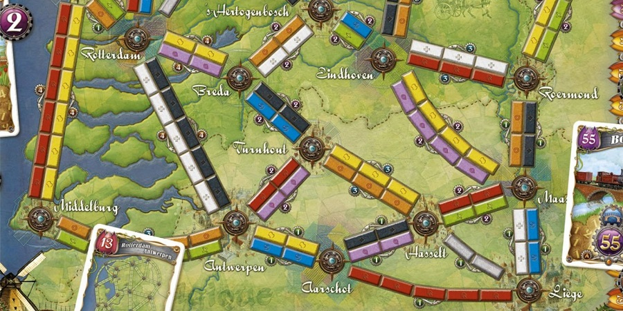 Tolbruggen in Ticket to Ride Nederland