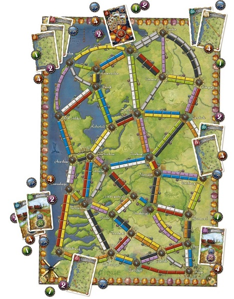 Ticket to Ride Nederland speelbord