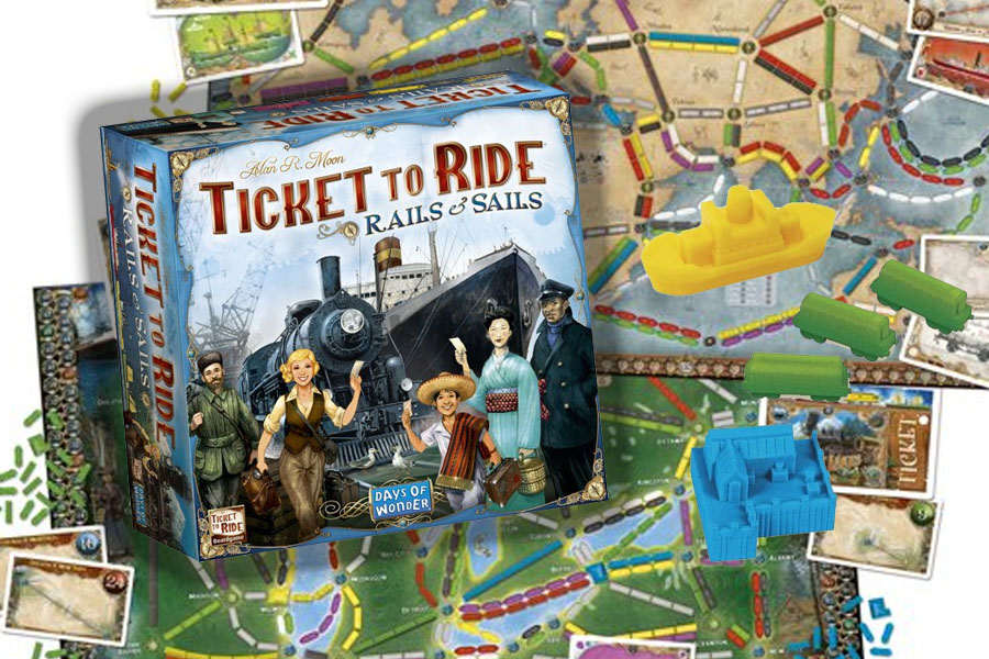 Ticket to Ride Rails & Sails review: expert versie met nieuwe opties