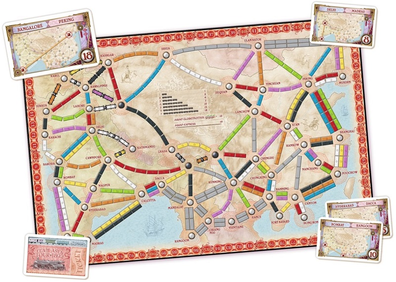 Ticket to Ride Team Asia kaart