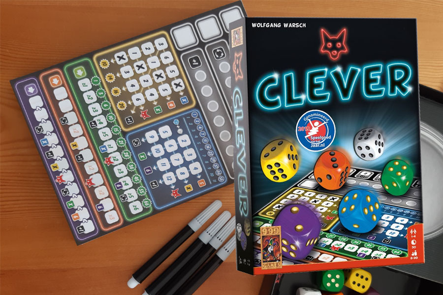 Je bekijkt nu Clever dobbelspel review: Ben jij slim genoeg?