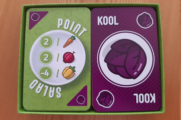 Groentekaart en puntenkaart