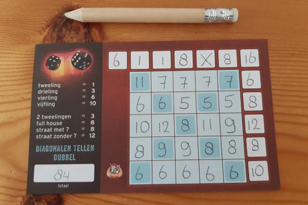 Knister scoreblad