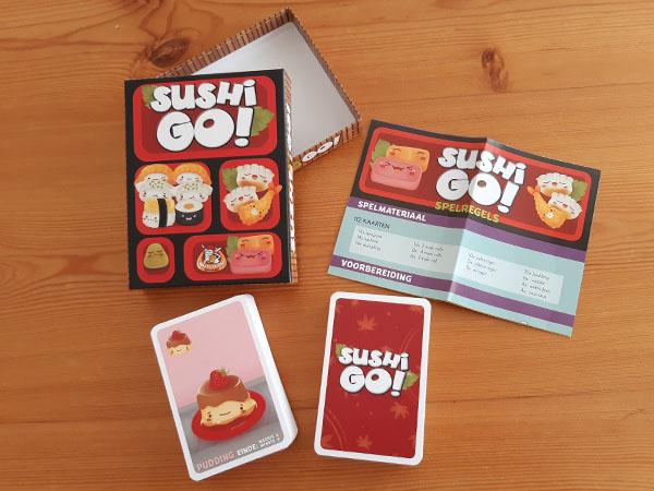 Sushi Go inhoud van de doos