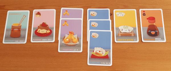 Setje verzamelde kaarten