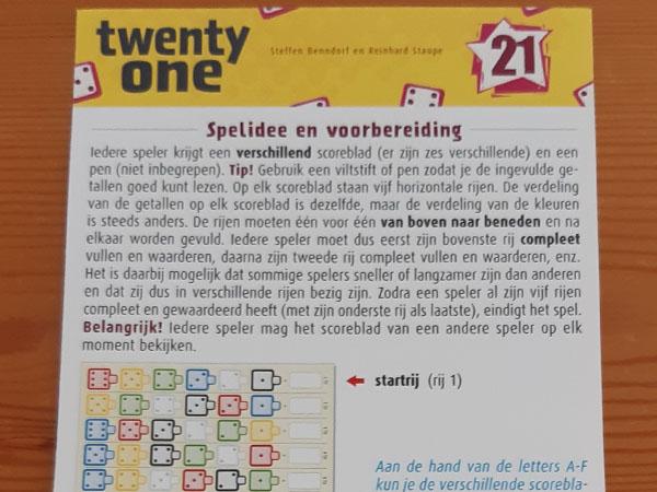 Spelregels Twenty One