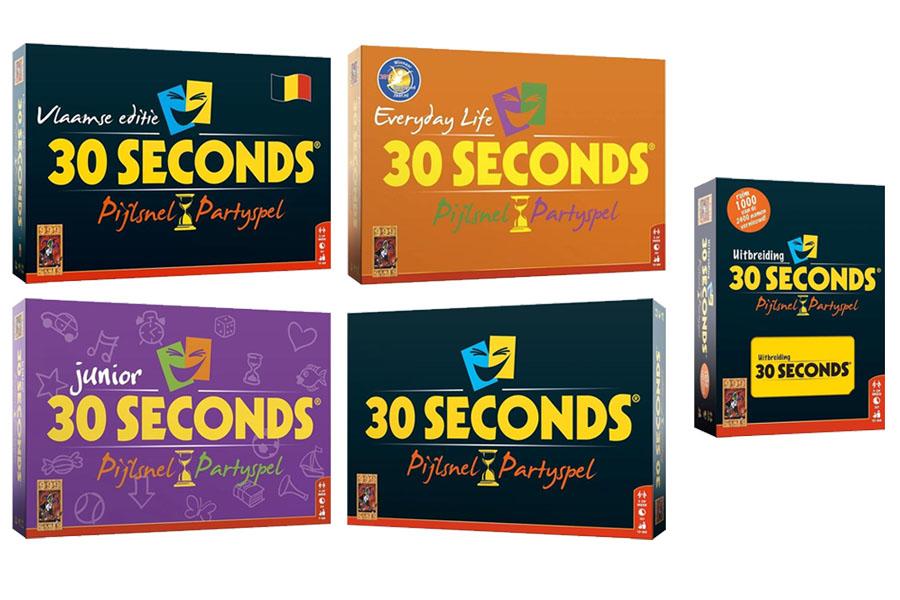 30 Seconds spellen en uitbreidingen: Complete overzicht