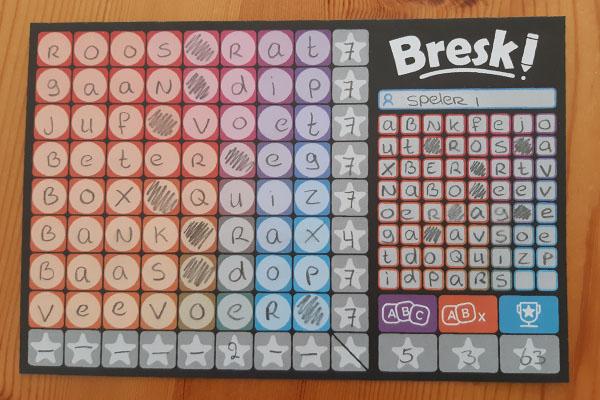 Bresk scoreblad