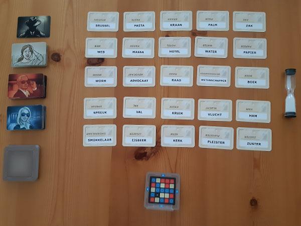 Codenames voorbeeld spelopzet