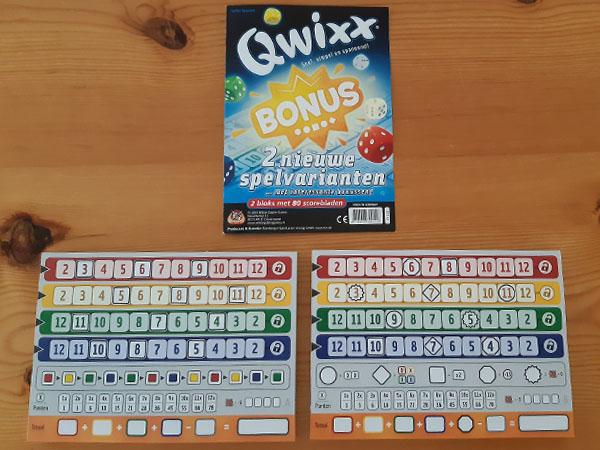 Qwixx bonus: inhoud van de doos