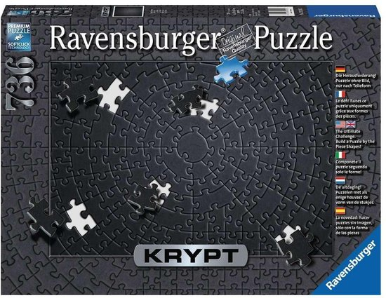 Ravensburger Krypt Puzzel Black