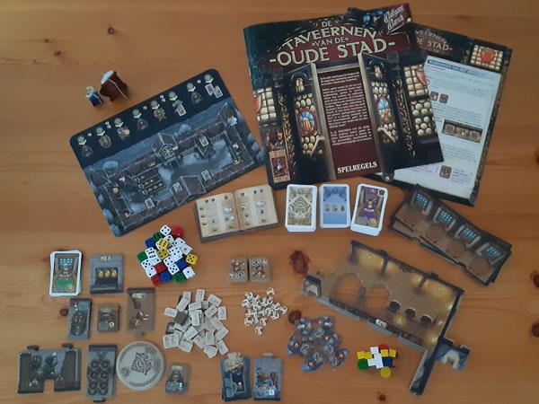 De Taveernen van de oude stad: Inhoud van de doos