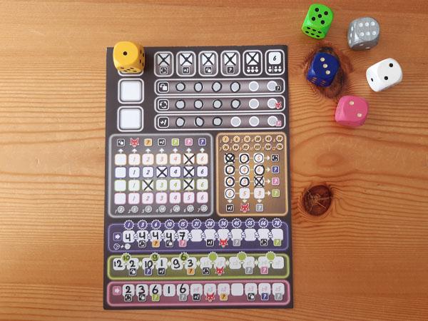 Dobbel zo Clever Challenge 1 scoreblad