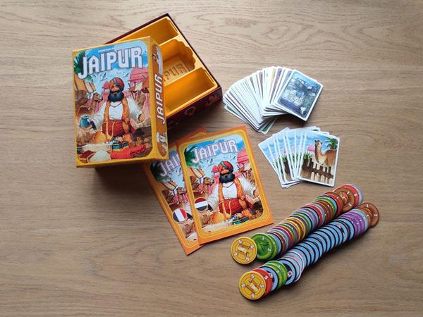 Jaipur inhoud van de doos