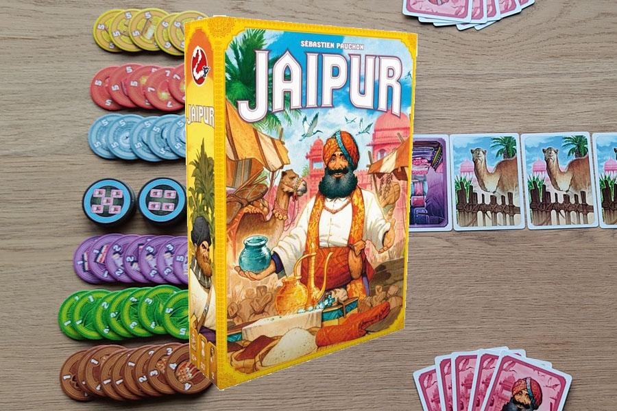 Jaipur kaartspel: twee speler kaartspel voor handelaren