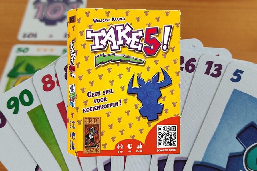 Take 5 spel review: tactisch kaarten plaatsen
