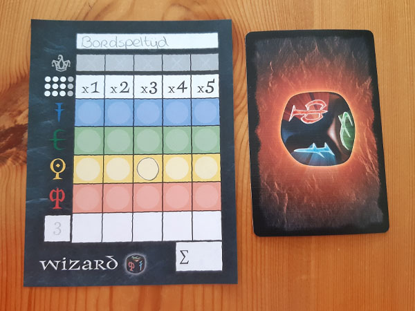 Wizard dobbelspel voorspelling gele 3