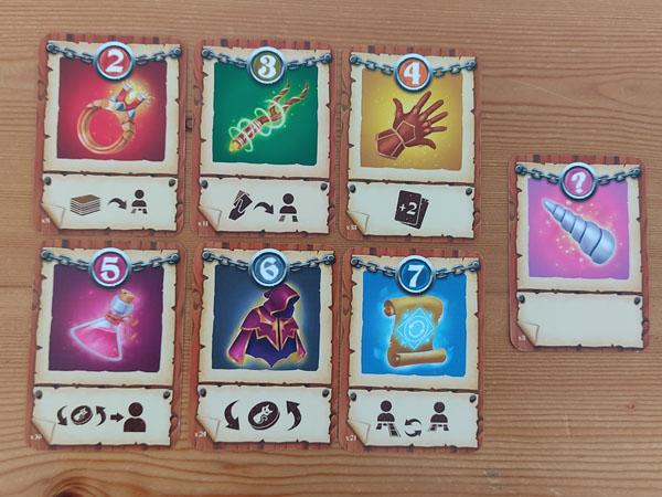 Magische voorwerpkaarten