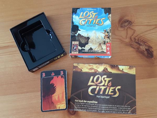 Lost Cities kaartspel: inhoud van de doos