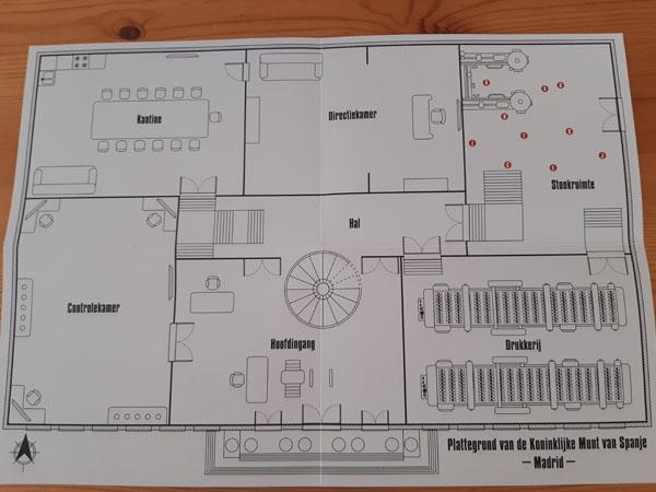 Casa De Papel - Escape Game plattegrond